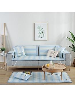 Summer Thicken Anti-Skip Striped Sofa Slip Cover