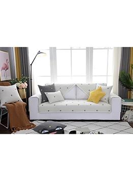 Modern Embroidery Star Cotton Sofa Slipcover