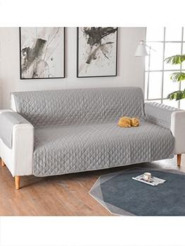 Euro Simple Non-Skip Solid Sofa Slipcover