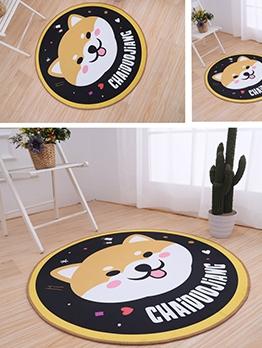 Cute Cartoon Kids Room Round Printed Doormat