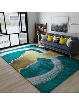 Simple Color Block Living Room Floor Mat