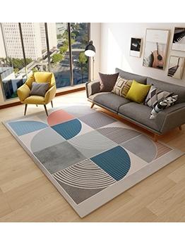 Contrast Color Geometric Printed Household Doormat