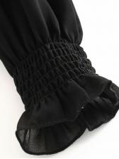 Fashion Off Shoulder Elastic Black Blouse