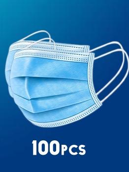 100 Pcs Disposable Face Masks Anti Anti-Foaming Non-Woven Filter Face Masks 3ply