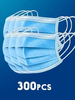150 Pcs Disposable Face Masks Anti Anti-Foaming 3ply Non-Woven Filter Face Masks Set