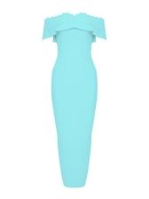 Scalloped Hem Short Sleeve Off Shoulder Midi Dress