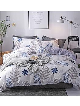 Euro Comfort With Flat Sheet Printed Bedding Set
