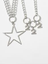 Figures Star Chain Statement Necklaces