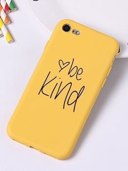 Be Kind Letter Print Solid Matted Iphone 6 Plus Case