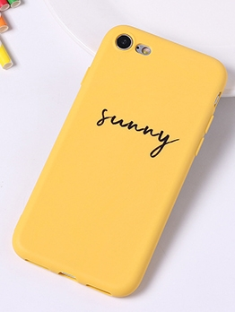 Simple Letter Print Iphone 5 Case Iphone 6 Cover