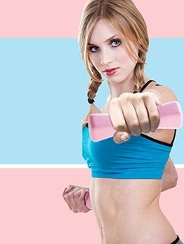 Anti Rolling Candy Color 1KG*2 Pink Dumbbells Set