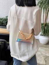 Acrylic Chain Handle Transparent Crossbody Shoulder Bags