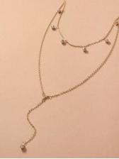 Easy Matching Rhinestone Layered Necklace