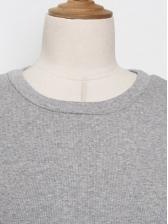 SideStrip Gray Short Sleeve Sheath Dress