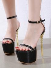 Ankle Strap Stiletto Heel Peep Toe Platform Heels