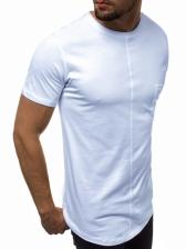 Solid Pocket Short Sleeve t Shirt For Mens