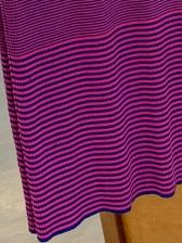 Contrast Color Striped V Neck Cotton Slip Dress