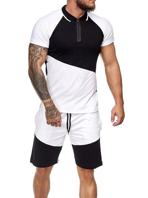 Leisure Color Block Men Affordable Activewear