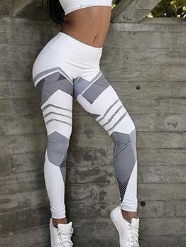 Geometric Print High Waist Yoga Leggings