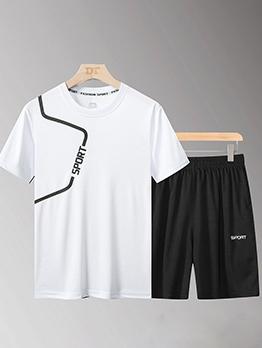 Loose Letter Casual Men Plus Size Sportswear