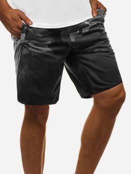 Casual Straight Drawstring Men Short Pants
