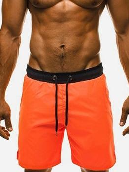 Casual Contrast Color Half Length Beach Short Pants