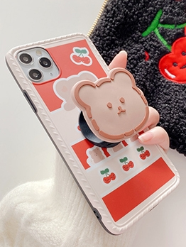 Anti Skidded Cartoon Bear Print Mobile Cover For Iphone