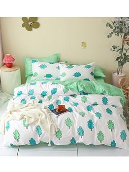 Simple Printed Comforter Bedding Set
