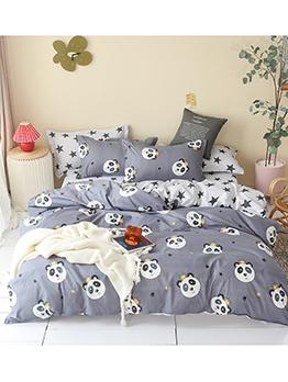 Cartoon Printed Comforter Set Bedding With Sheet Set