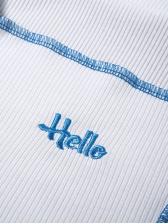 Contrast Trim Short Sleeve Two Piece Skirt Set