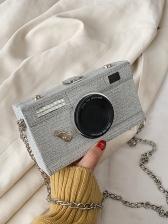 Trendy Camera Shape Detachable Chain Crossbody Bags