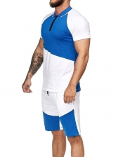 Leisure Color Block Men Affordable Activewear