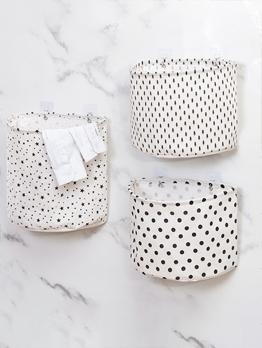 Medium Wall Hanging Foldable Bathroom Clothes Storage Baskets