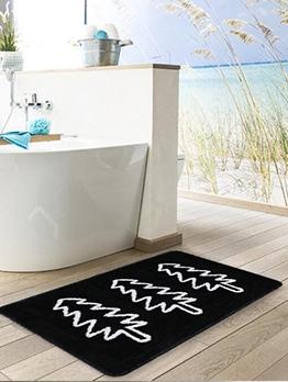 Simple Anti-Slip Contrast Color Printed Floor Mat