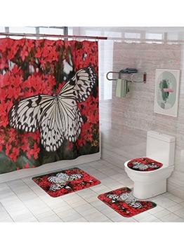 Hot Sale Animal Printed Shower Curtain Doormat Sets