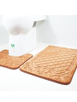 Euro 3D Printed Bathroom Two Piece Doormat