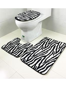 Decorative Non Slip Three Piece Bathroom Doormat