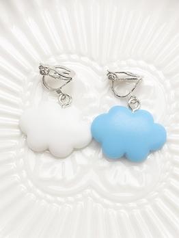 Sweet Cloud Shape Clip On Earrings