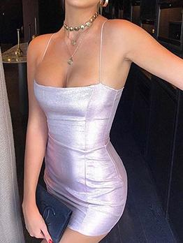 Sexy Low-Cut Sleeveless Bodycon Mini Dress