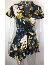Hot Sale Printed v Neck Summer Dresses