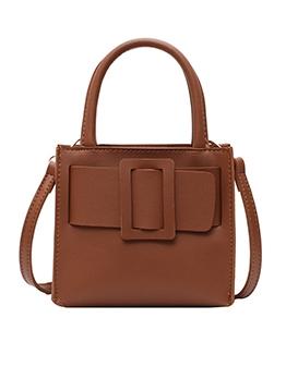 Square Buckle Detachable Belt Shoulder Bags With Handle