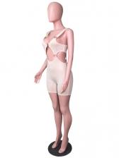 Shiny Rhinestones Cut Out Sexy Summer Bodycon Romper