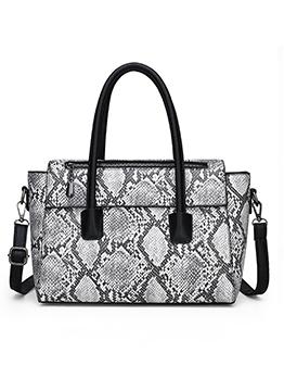 Snake Print Detachable Belt Large Capacity Women Handbags