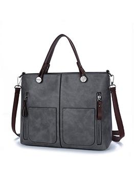 Side Zipper Square Shape Simple Ladies Handbags With Belt