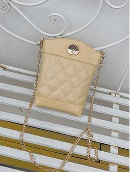 Detachable Belt Solid Rhombus Lattice Chain Crossbody Bags