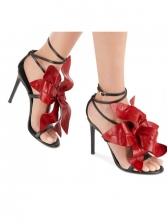 Stiletto Heels Stereo Flower Decorated Summer Sandals