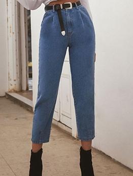 Euro Fashion High Waist Denim Pencil Pants