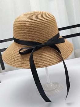 Summer Beach Straw Bowknot Sun Protection Hat