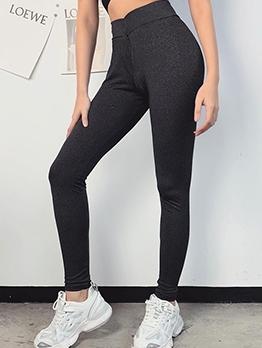 Pure Color High Waist Skinny Yoga Pants
