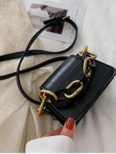Thick Chain Alligator Print Detachable Strap Shoulder Bags